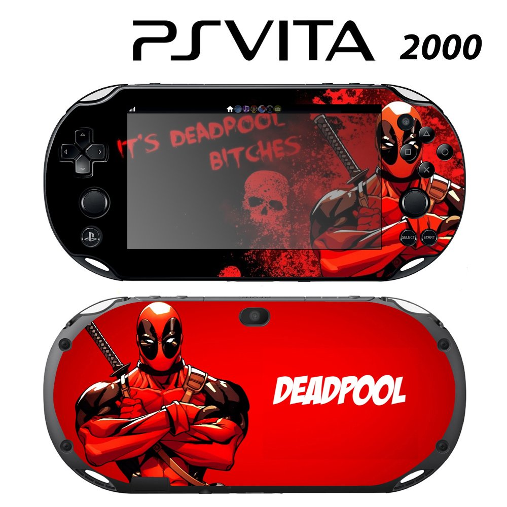 Decorative Video Game Skin Decal Cover Sticker for Sony PlayStation PS Vita Slim (PCH-2000) - Deadpool