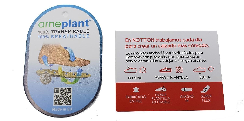 NOTTON Botines ANCHO ESPECIAL para mujer - 2321 - Negro (35): Amazon.es: Zapatos y complementos