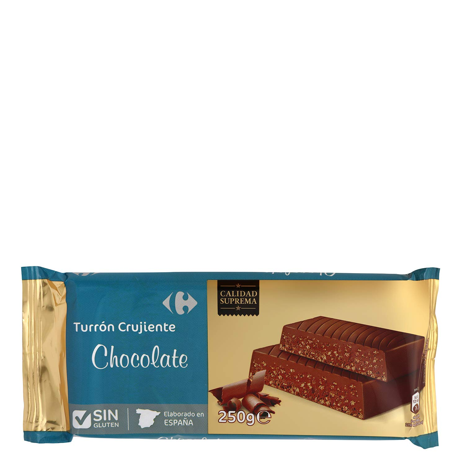 Amazon.com : 4 Pack Carrefour Crunchy Dark Chocolate Spanish Nougat 250g - Made In Spain - Supreme Quality - Bitter Chocolate - Gluten-Free - Turron ...