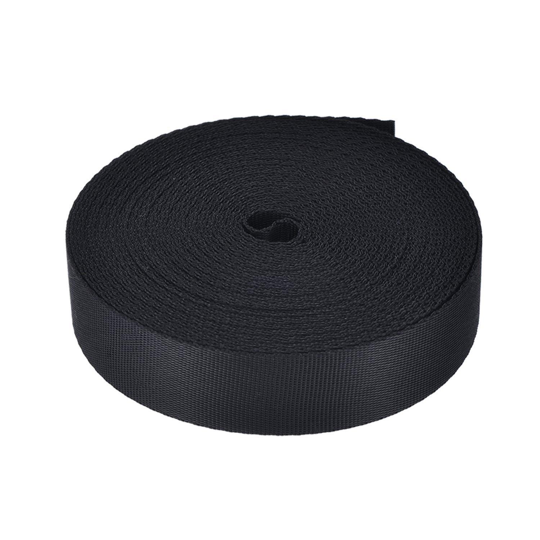 10 Set Plastique Noir 1 Pouces Boucles Plastique Fermeture Flat et 10 Pi/èces Tri-Glisse Ajustement Clips Compatibles avec 1 Rouleau 1 Pouce de Large 10 Yards Braguette en Nylon Noir
