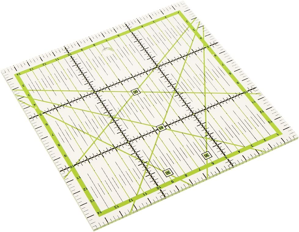 15x15cm Transparent Plastic Square Quilt Ruler Patchwork Acrylic Rulers for DIY Sewing