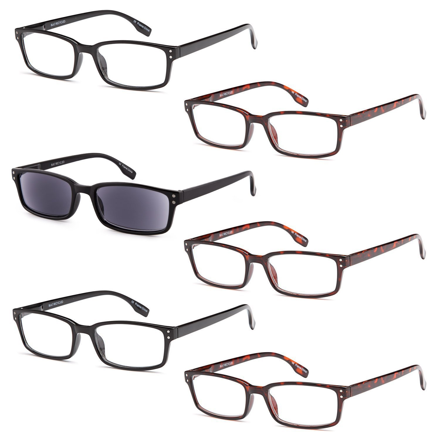 6 pairs s readers quality hinge reading glasses