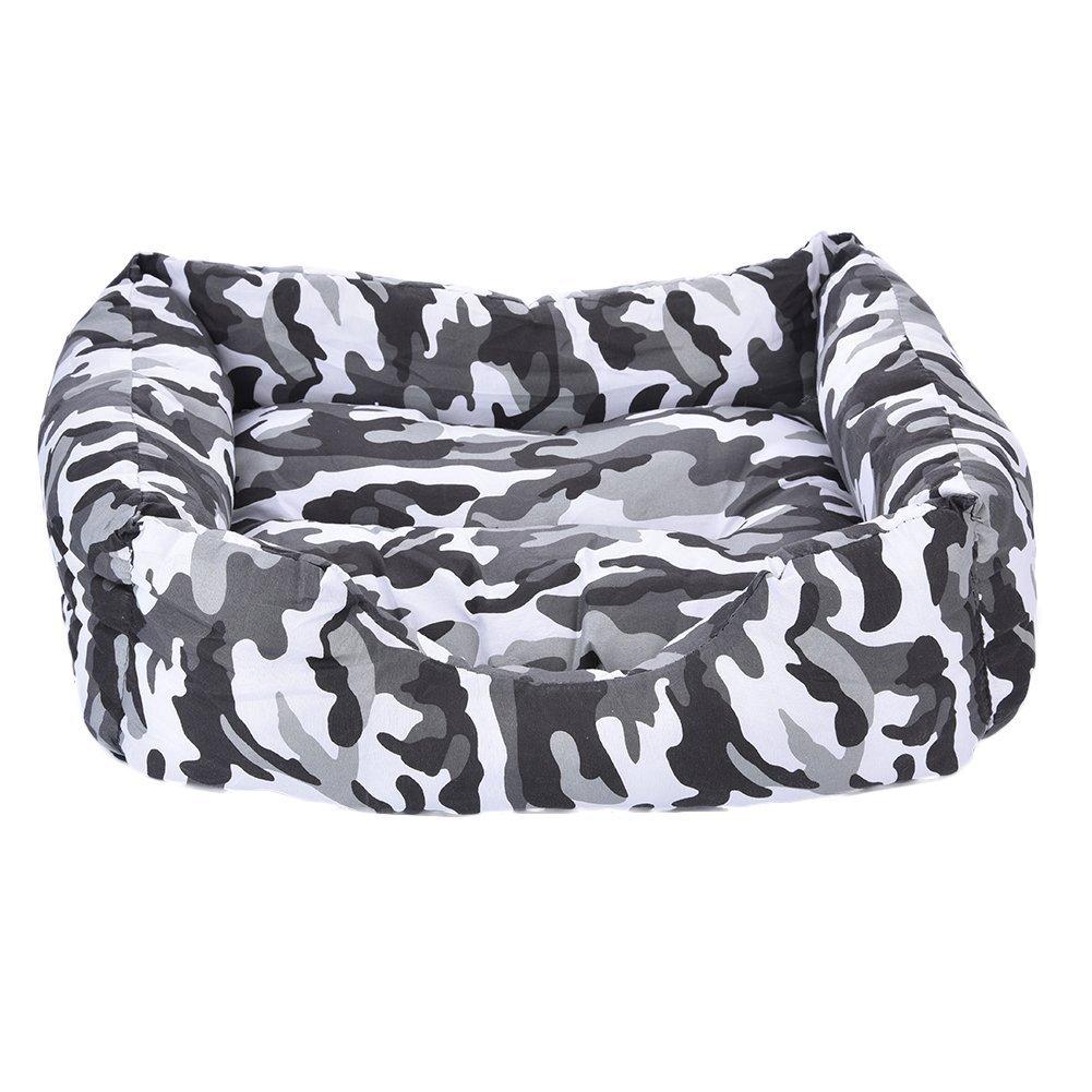 Happy- little -bear Letto per Cani Cat Cave Lounge con Tappetino Rimovibile Camouflage Pet Letti Nidi Universale Grigio S 43  35  13cm