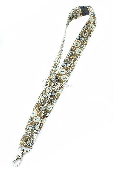 Amazon.com: Breakaway cordón floral tela Cadena de clave ...