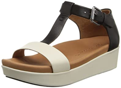 Kenneth Cole Gentle Souls Women's Gisele Leather Platform Wedge Sandals