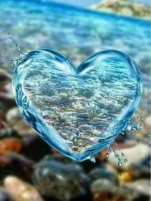 5D Diy Bordado Diamante Pintura En Forma De Corazón Mar Punto De ...
