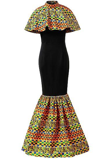 6922cc9818777 HongyuAmy Women African Print Dresses Kente Print Dresses