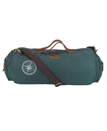 5a56effe0251 The House Of Tara Waxed Canvas Duffle, Gym Bag (Combat Blue)