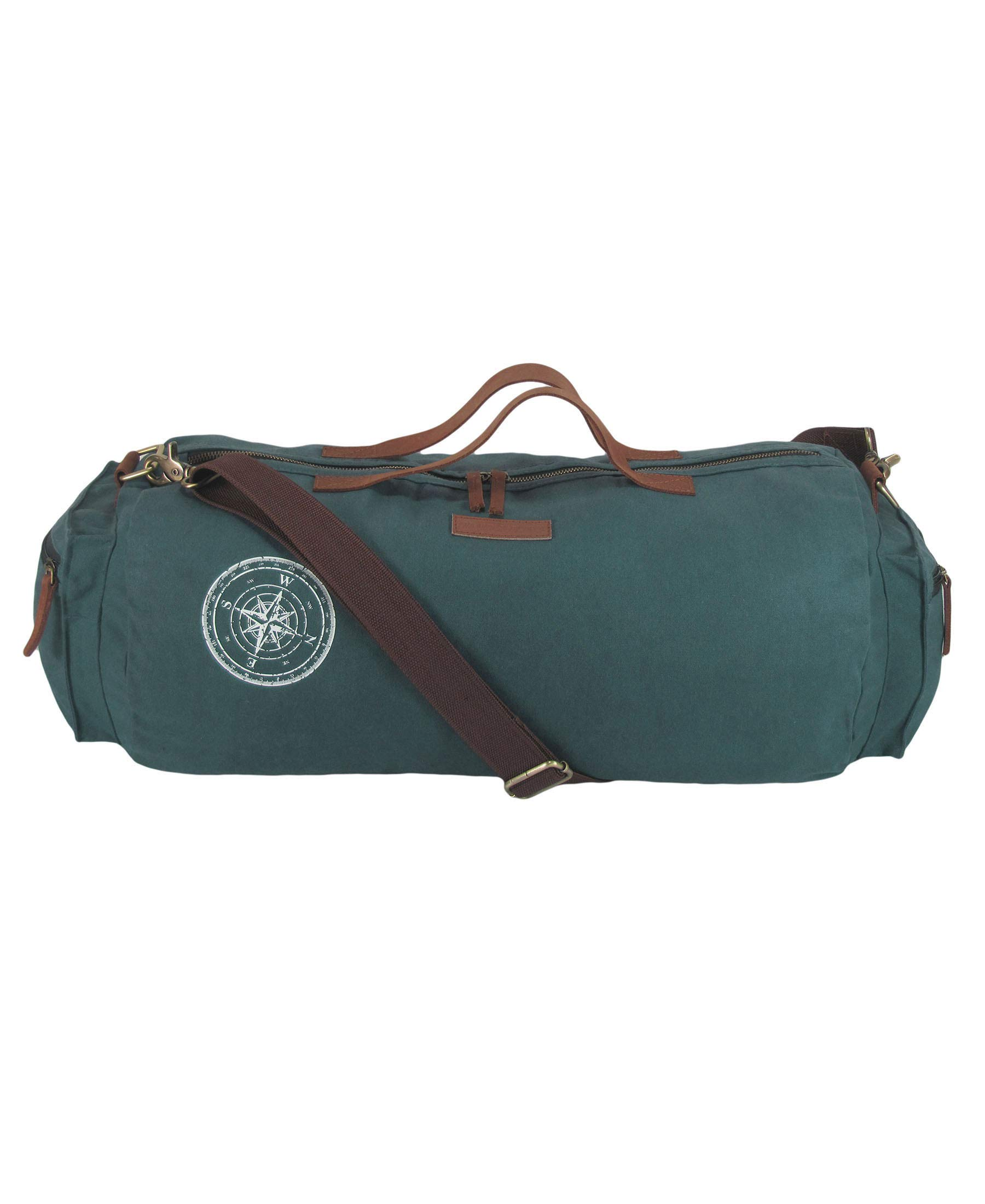 The House Of Tara Waxed Canvas Duffle, Gym Bag (Combat Blue) product image