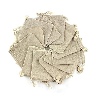Sacs Mini sac cadeau,Sachets pour F/ête de Mariage et Bricolage RUBY Pochette,Sachets en Lin