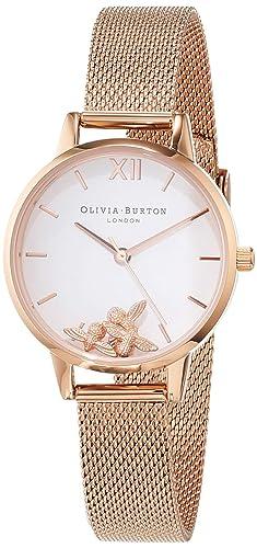 Olivia Burton Reloj Analógico para Mujer de Cuarzo con Correa en Acero Inoxidable OB16CH01: Amazon.es: Relojes