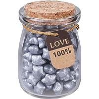 Healifty 120pcs Sellado de Perlas de Cera Forma de Estrella Perlas de Sello de Cera con Botella de Almacenamiento para Sello de Sello de Cera (Plata)