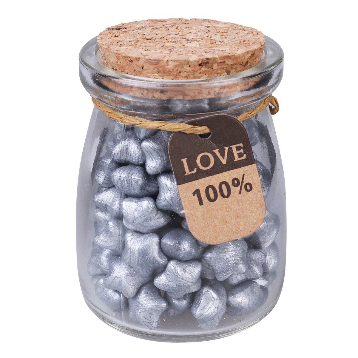 ROSENICE Set di perle di cera sigillate per confezioni regalo Buste di sigillo avvolte 1 bottiglia (argento)