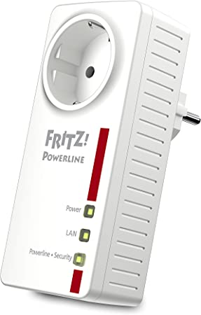 Plc Adapter Fritz 1220e Lan 1200 Mbps White Computers Accessories