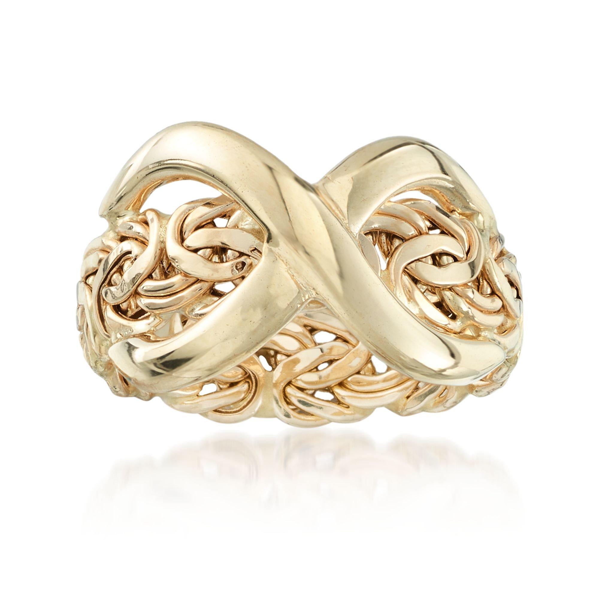Ross-Simons 14kt Yellow Gold Byzantine Infinity Ring