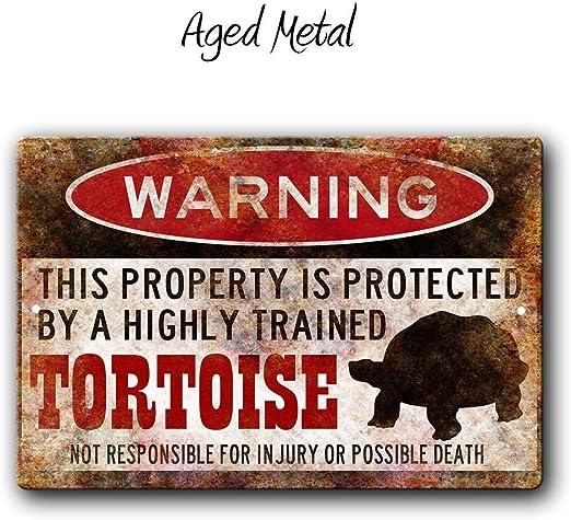 Warning Beware Of Lead Novelty Metal Decorative Sign
