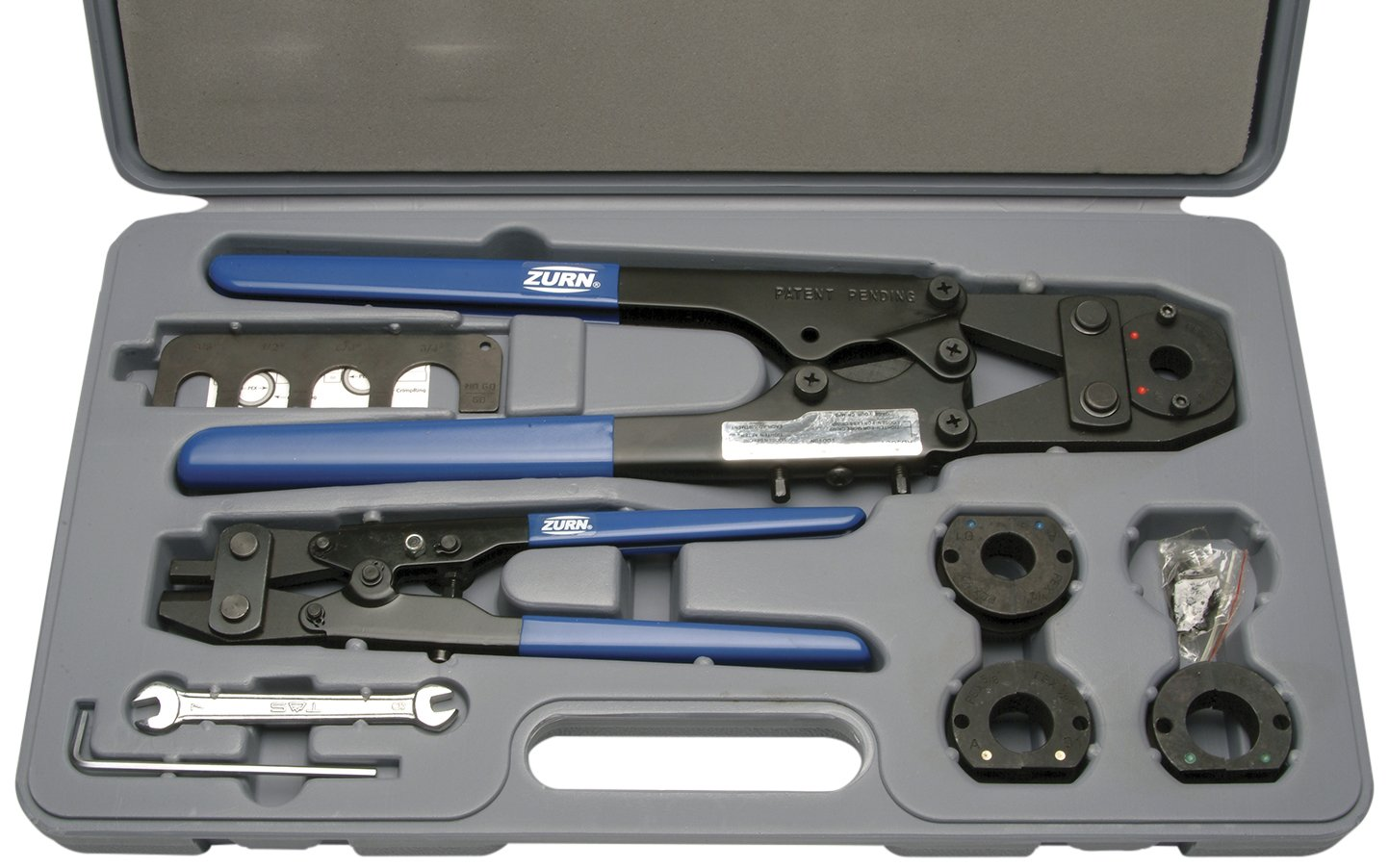 Zurn QCRTMH Steel Multi-Head Copper Crimp Tool for Creating Watertight PEX Connections of 3/8'', 1/2'', 5/8'' and 3/4'' PEX Fittings by Zurn