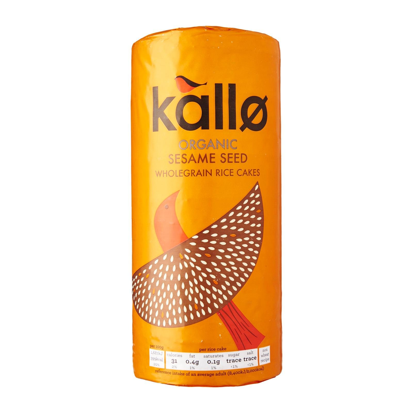 Kallo Organic Thick Slice Sesame Rice Cakes 130g - Pack of 2