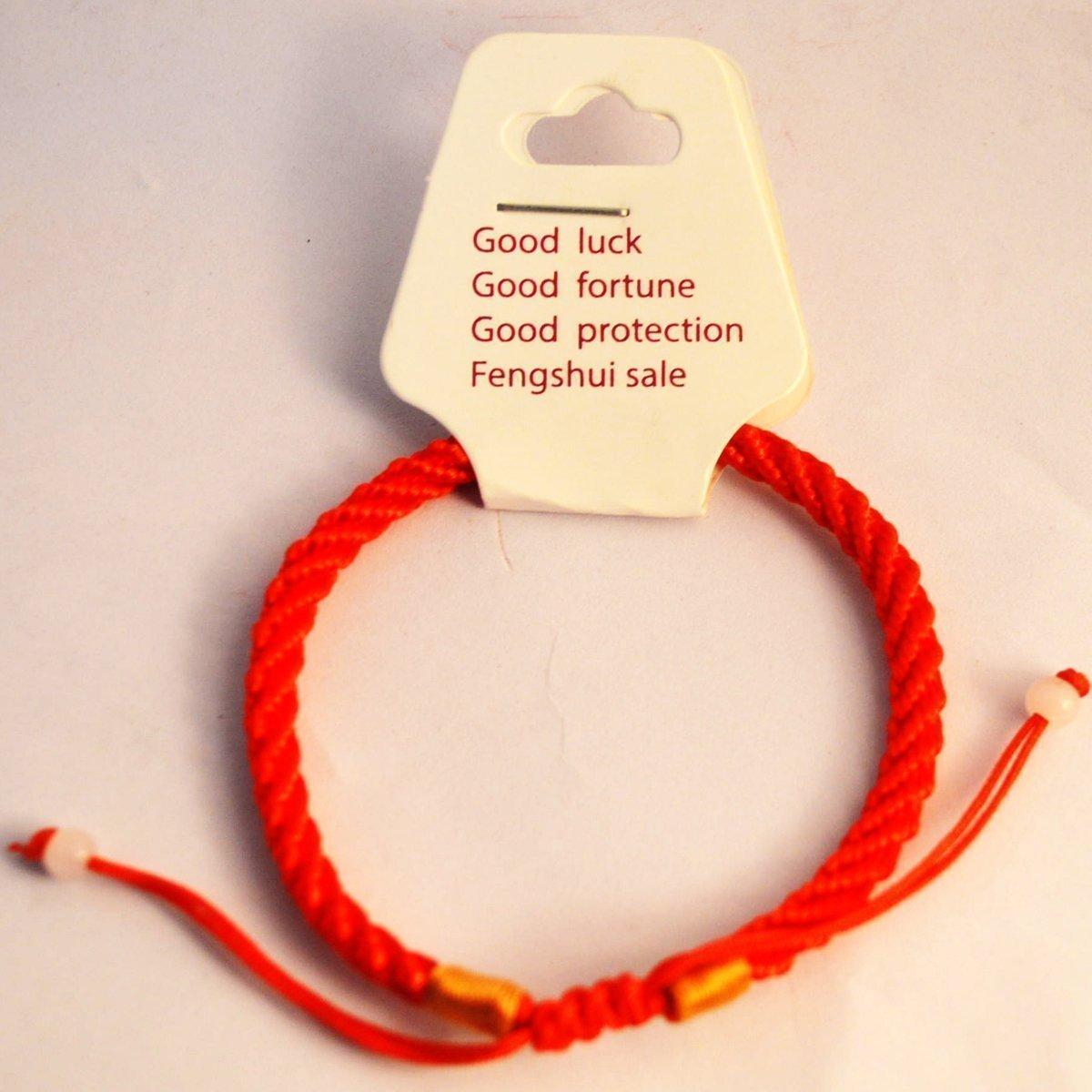 Gong de sobremesa Zen Feng Shui lat/ón dise/ño de Fortune W incluye Mxsabrina rojo Pulsera cuerdas H1301