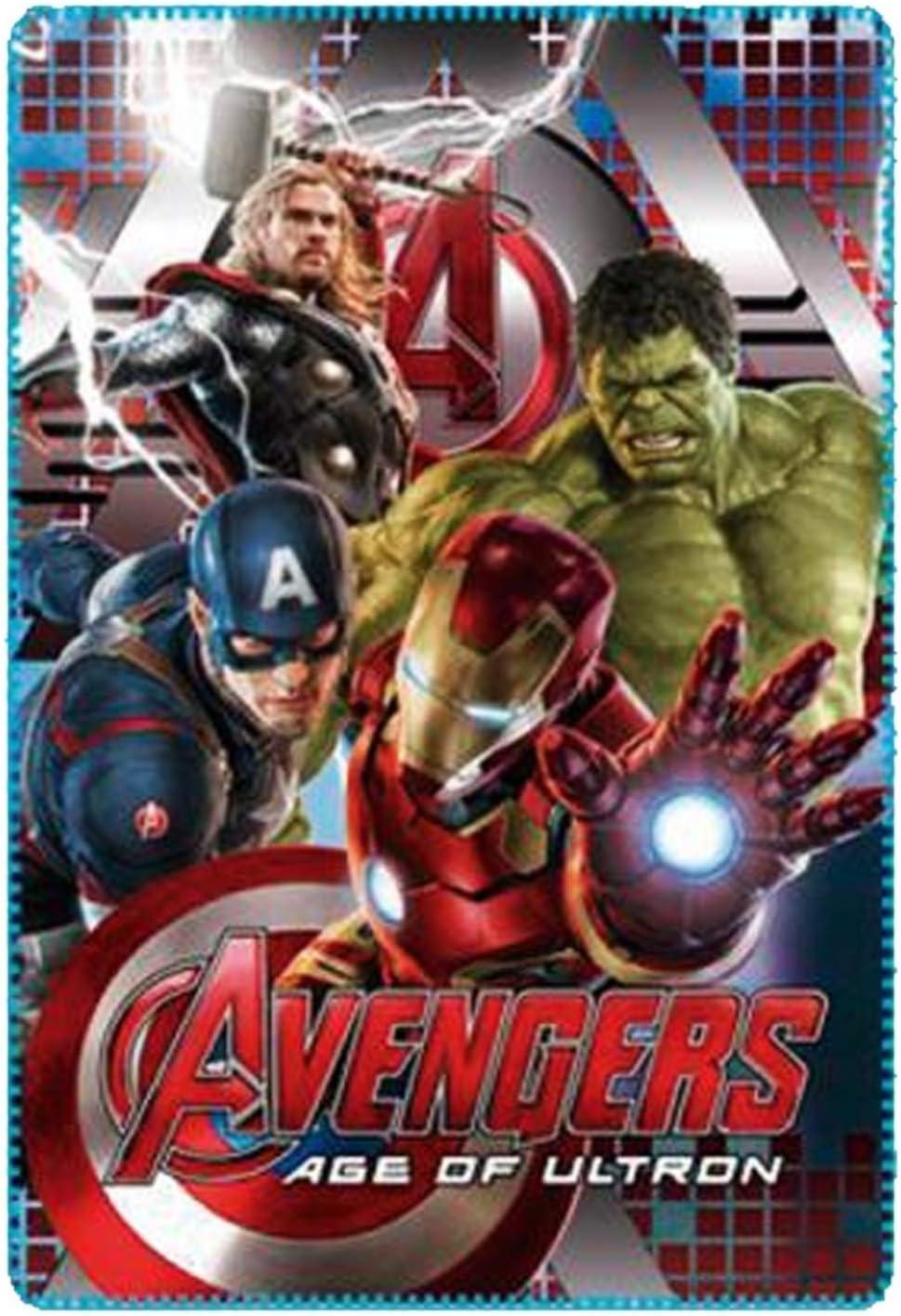 Marvel Avengers Kids Fleece Blanket Blue