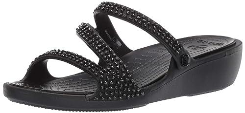 8b2d31d23a46b crocs Women's Patricia Diamante W Black Fashion Sandals-W5 (205725-060-W5