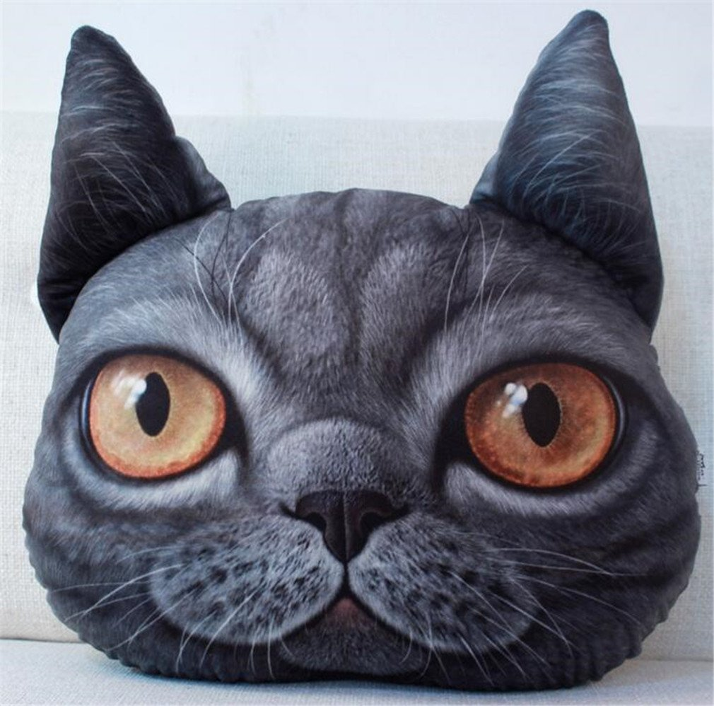 NUO-Z Short Plush Cushion - Bedside Nap Pillow Sleep Pillow Cushion -Creative Personality Gift - Christmas Gift, Family, Hotel, Decoration, Chair, Bed,Car,Black