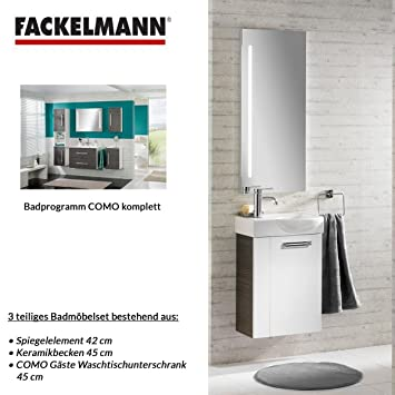 Fackelmann Como Guest Toilet Bathroom Furniture Set 3 Piece