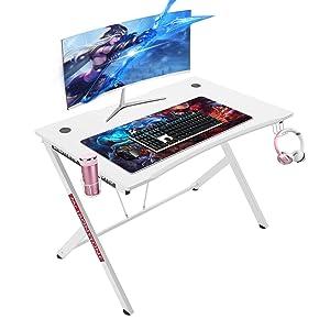 Mr IRONSTONE White Gaming Desk 45.3