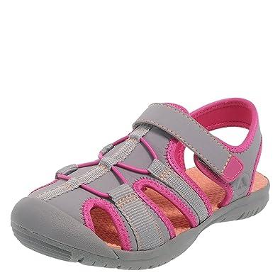 6f4cc47551a Rugged Outback Grey Pink Girls  Marina Bumptoe Sandal 5 Regular