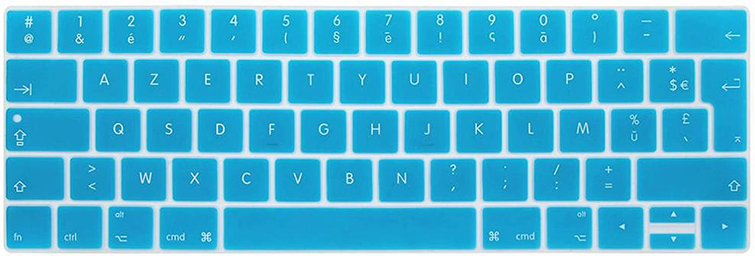 French EU Notebook Keyboard Cover for MacBook Touch Bar 13 15 A1990 A1989 A1707 A1706 Azert Laptop Keyboard Protective Film,Colorful