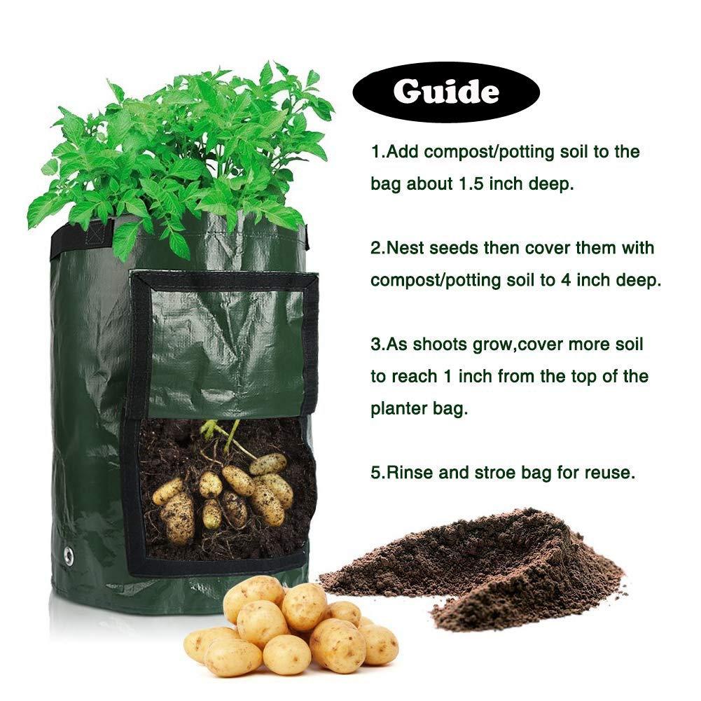 Uhat Pack 2 Bolsas Impermeables para Cultivo de Plantas de ...