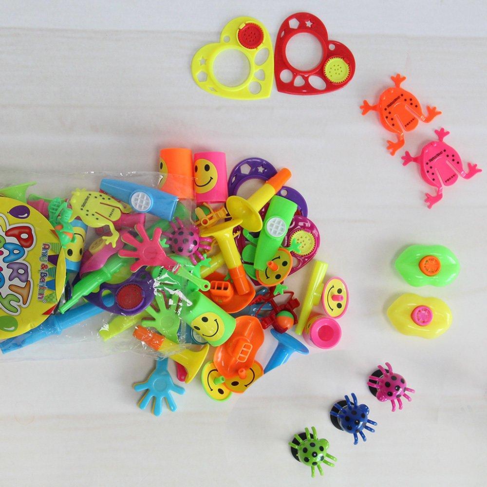 Amy/&Benton Treasure Box Chest Prizes Toys for Classroom Pinata Filler Kids Birthday Party Favors Assortment for Goodie Bags 60 PCS Amy /& Benton 60pcs