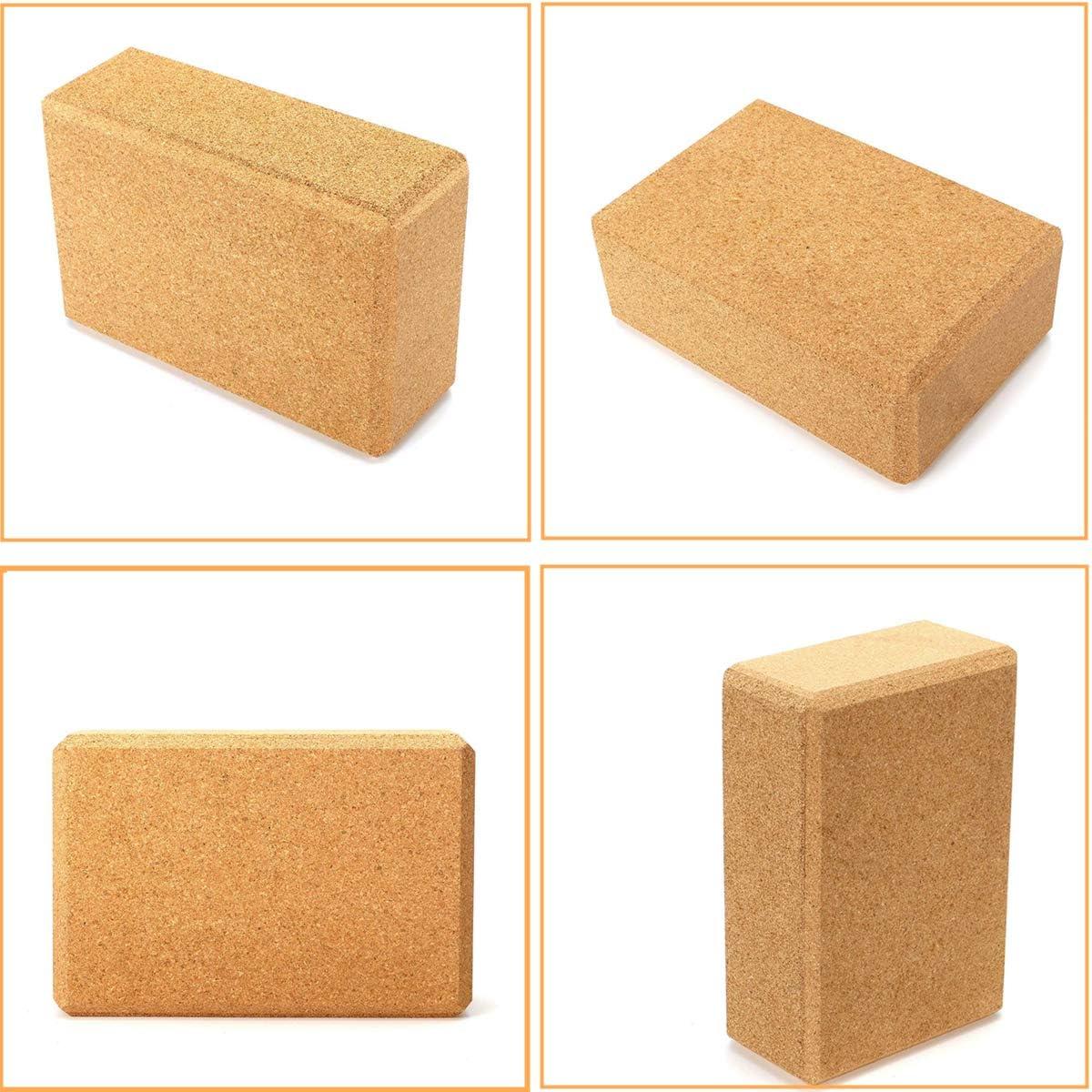 liyuhang Cork Yoga Block Yoga Ziegel Yogaklotz Kork Yoga Zubeh/ör praktische Hilfsmittel f/ür Yoga Yoga Bricks aus Naturkork Yoga Blocks
