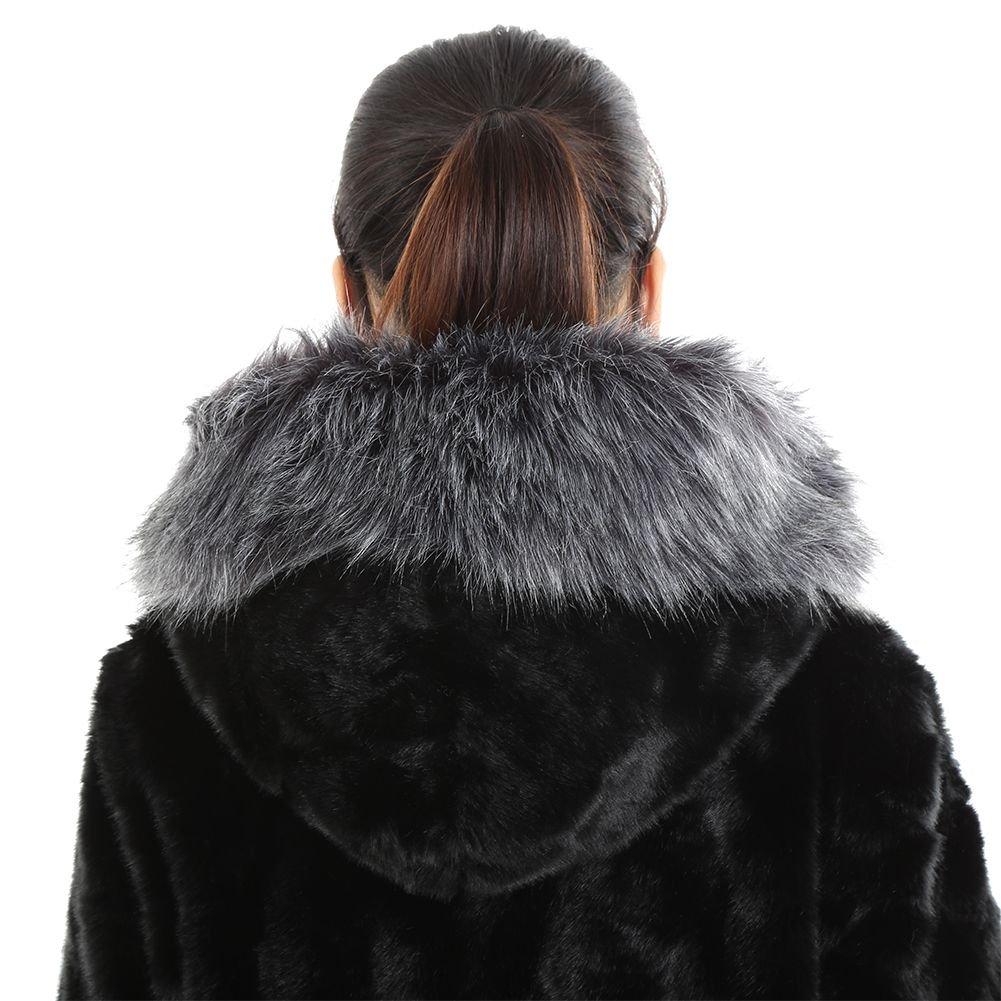 Amazon.com: soly Tech Invierno Mujer Fox chamarra de piel ...