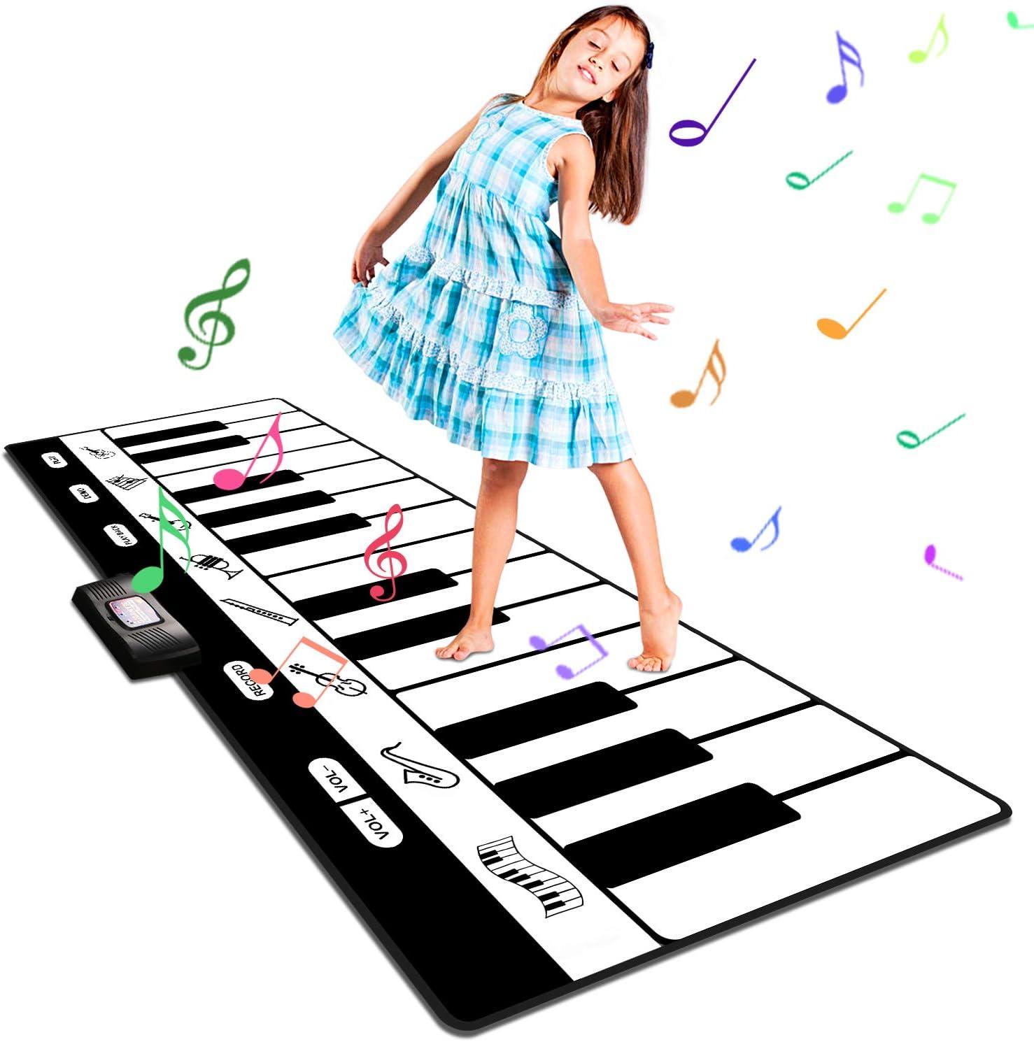 Alfombra Musical, lfombra Piano de Suelo Musical Canto Alfombrilla Musical Estera de Baile Tapete para Niños