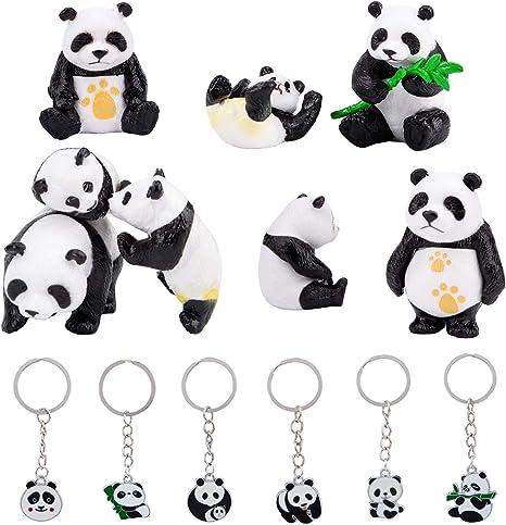 Papo 50071 Panda mit Jungtier 8 cm Wildtiere