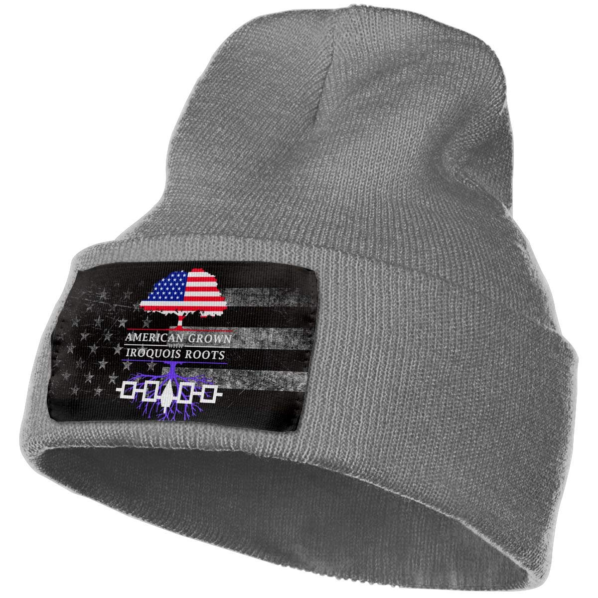 FORDSAN CP American Grown with Iroquois Roots Mens Beanie Cap Skull Cap Winter Warm Knitting Hats.