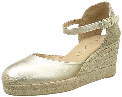 Unisa Caceres_17_LMT, Alpargatas para Mujer, Dorado (Platino), 39 EU: Amazon.es: Zapatos y complementos