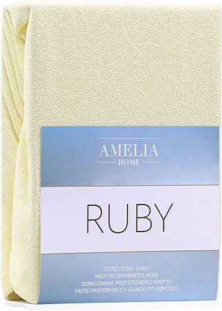 AmeliaHome DecoKing - Sábana Bajera Ajustable (algodón Rizado), Color y tamaño a Elegir, algodón, Beige, 180x200-200x200 cm: Amazon.es: Hogar