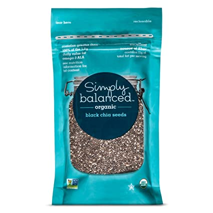 Amazon.com : Organic Black Chia Seeds - 6oz Simply Balanced ...