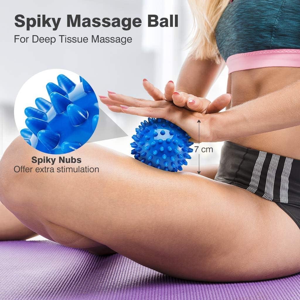 COTTILE Faszienstab Massagerolle Fitness Tools,Muskelmassageger/ät Massage Roller Foam Shaft Beinmuskel Relaxer Massageger/äte f/ür Bein Hals Arm Ellbogen