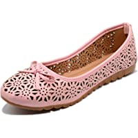 Midsole Women's Synthetic Bow Accent with Cut-Outs Belly Shoes