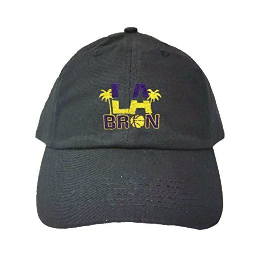 ad8323587f3 Go All Out Adjustable Black Adult LA Bron Palm Trees Embroidered Dad Hat