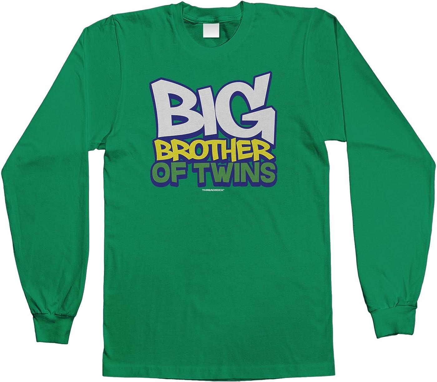 Threadrock Baby Boys Big Brother of Twins Infant T-Shirt