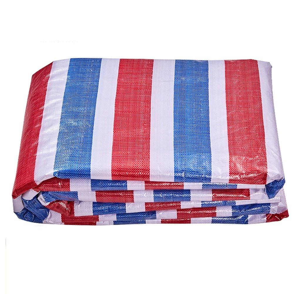 CHAOXIANG ターポリン テント 厚い 防塵の 折りたたみが簡単 絶縁 カラーストリップ リノリウム PE、 100G/㎡、17サイズ (色 : Tricolor cloth, サイズ さいず : 2x30m) B07FTKFKB2 2x30m|Tricolor cloth Tricolor cloth 2x30m
