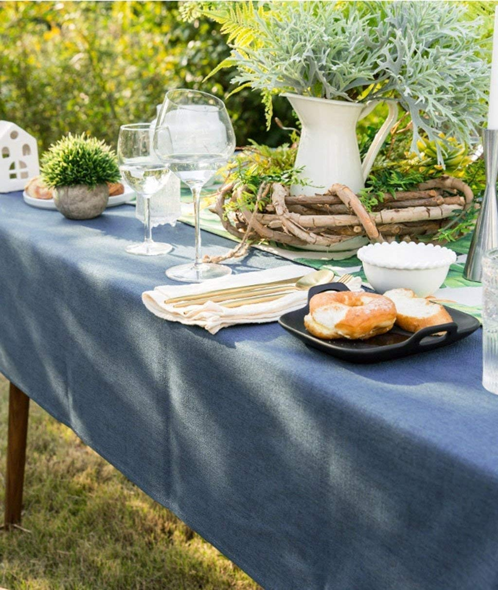 家の装飾布カバー ホームピュアカラーテーブルクロスシンプルなプレーン布アートテーブルクロス綿とリネン小さな新鮮な長方形コーヒーテーブル テーブルクロス   B07RWLKQZZ