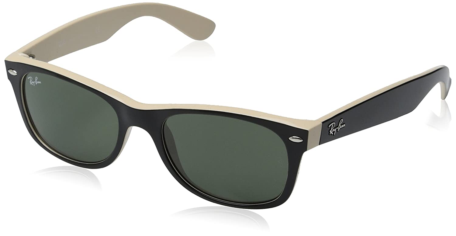 0a36b3364f Amazon.com  New Ray Ban RB2132 875 Black on Beige Frame Crystal Green 52mm  Sunglasses  Shoes
