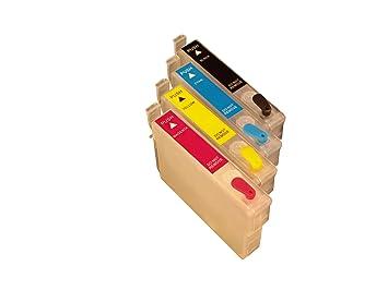 4 cartuchos de impresora recargables compatibles reemplazar Epson T0711 / T0891, T0712 / T0892, T0713 / T0893, T0714 / T0894, adecuado para Epson D78 ...