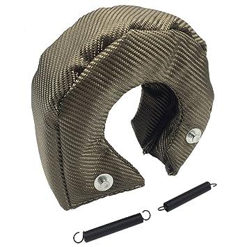 Amazon.com: LEDAUT T2 Turbo Blanket Titanium Lava Turbocharger Heat Shield Cover Fit For GT25 GT27 GT28 Turbo: Automotive