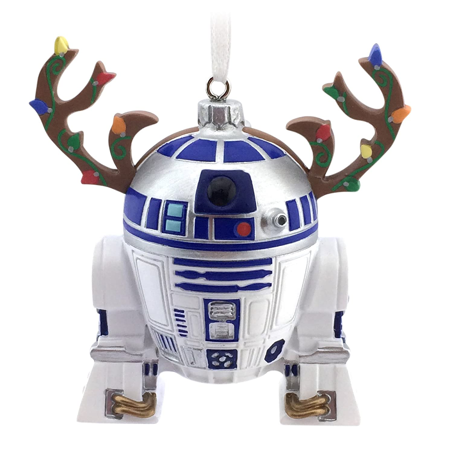 amazoncom hallmark lucasfilm star wars r2d2 ornament home kitchen - Star Wars Christmas Decorations